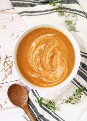 white bean pumpkin soup recipe vegan gluten free autumn recipes with beans savory pumpkin recipes vegan plant based dairy free vegetarian creamy soup recipes cozy vegan soups