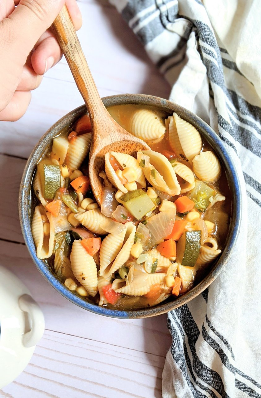 corn and zucchini minestra soup recipe vegan corn zucchini minestrone recipe summer minestrone soup without beans dairy free gluten free pasta shells recipe plant absed light summer lunches soups