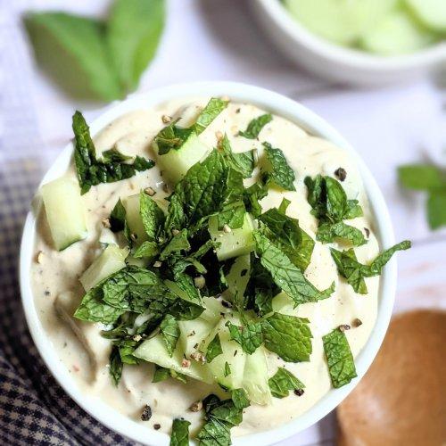 mint tzatziki sauce recipe without dill creamy vegetarian gluten free tzatziki with fresh mint and cucumber recipe no dill tzatziki yogurt dip
