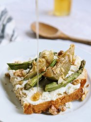 savory ricotta toast with vegetables and honey asparagus and zucchini on toast for breakfast vegetable toast recipes