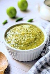 tomatillo salsa verde recipe gluten free vegan salsa blender green salsa recipe with tomatillos chiles jalapenos cilantro and garlic