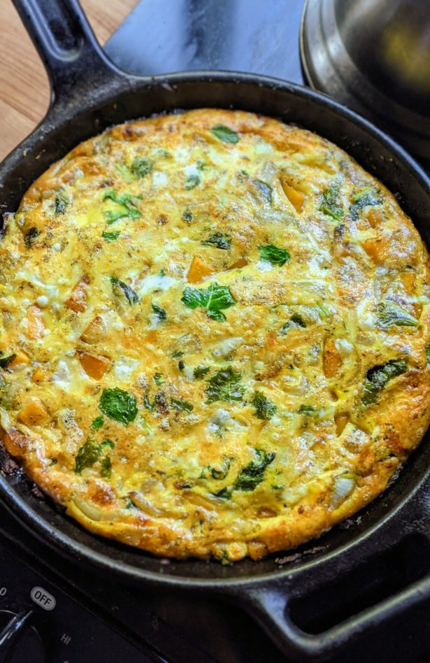 butternut squash frittata recipes vegetarian gluten free crust less quiche no crust with fall vegetables squash and kale breakfast frittata bake
