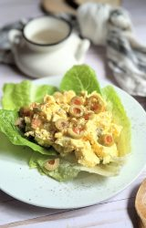 low carb olive egg salad recipe with olives fun twist on egg salad with green olives keto low carb