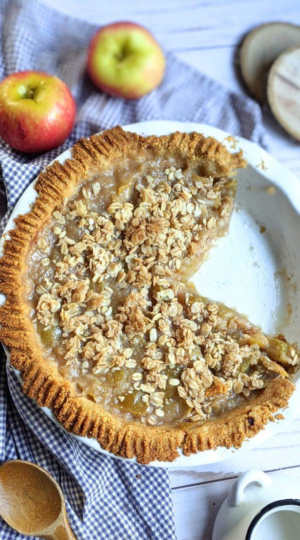 low sugar apple pie filling with brown sugar not granulated healthier lower sugar apple pie vegan gluten free pie filling with apples