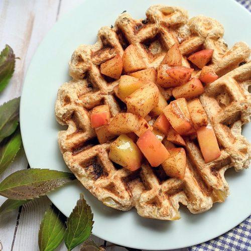 vegan apple waffles recipe dairy free apple pie filling recipes for breakfast healthy fall recipes brunch breakfast gluten free