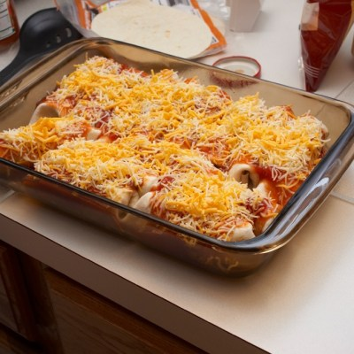 Enchiladas Rancheras and Chile Rice Casserole