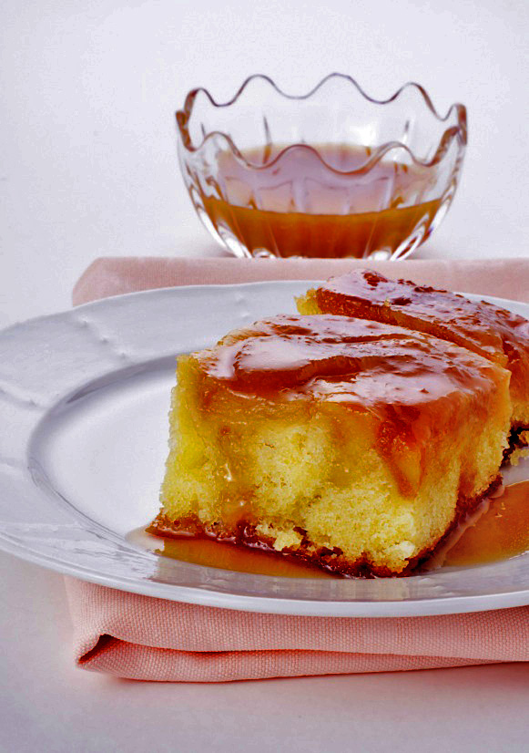 Apple Cake with Rum-Caramel Sauce and Pine Nut Brittle ...