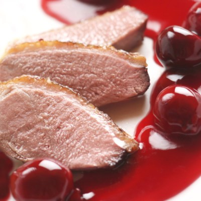 Cherry-Cranberry and Smoked Duck Appetizers