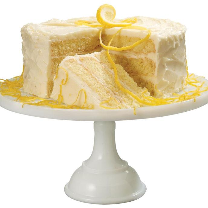 Triple Layer Lemon Cake With Cream Cheese Frosting
