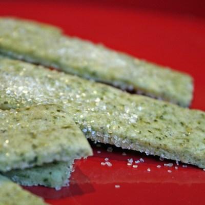 Green Tea Shortbread Cookies for the International Cookie Exchange!