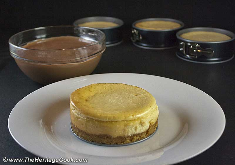 Vanilla Bean Cheesecake with Walnut Crust copyright Jane Bonacci, The Heritage Cook