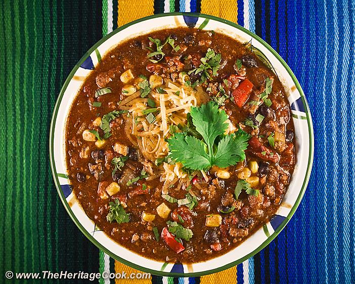 Del Monte Chili copyright 2012 Jane Evans Bonacci, The Heritage Cook