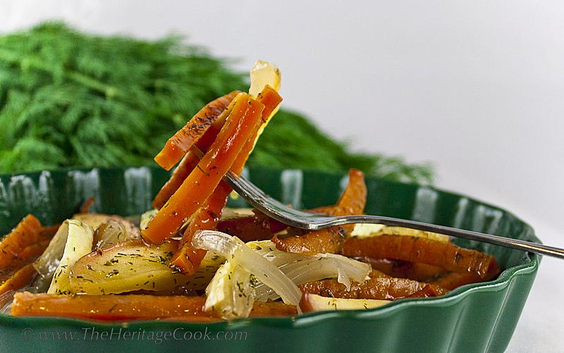 Fall Fest-Carrots; Maple Carrots copyright 2012 Jane Evans Bonacci, The Heritage Cook