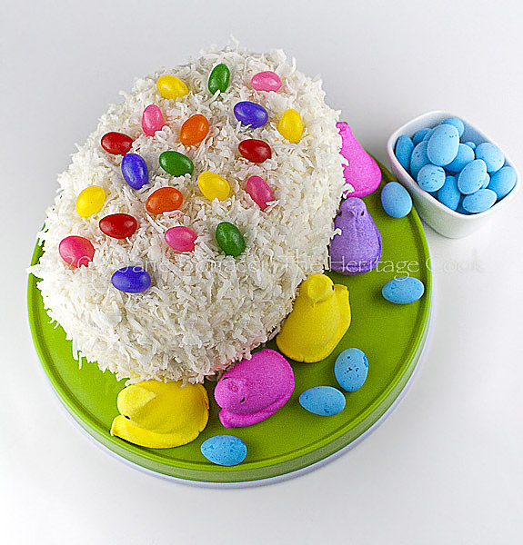 Easter-Egg-Cake Copyright 2013 Jane Bonacci, The Heritage Cook