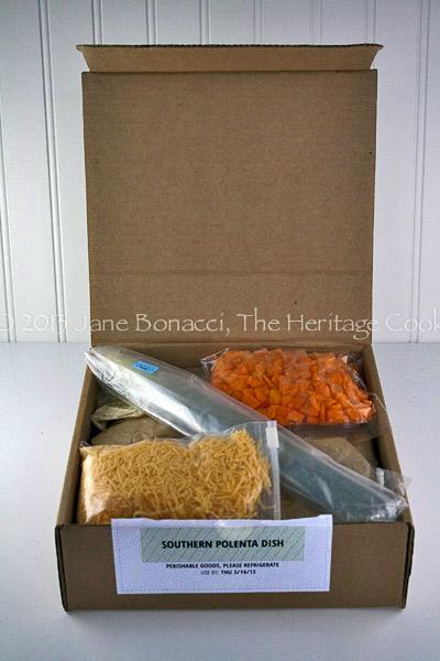 Shrimp and Polenta copyright 2013 Jane Bonacci, The Heritage Cook