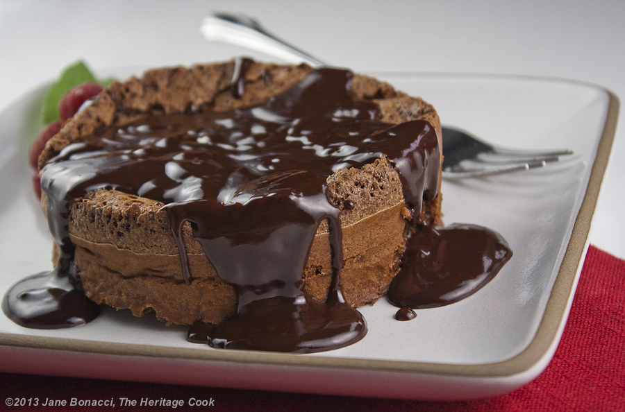 Cassis Chocolate Souffle Cake The Heritage Cook