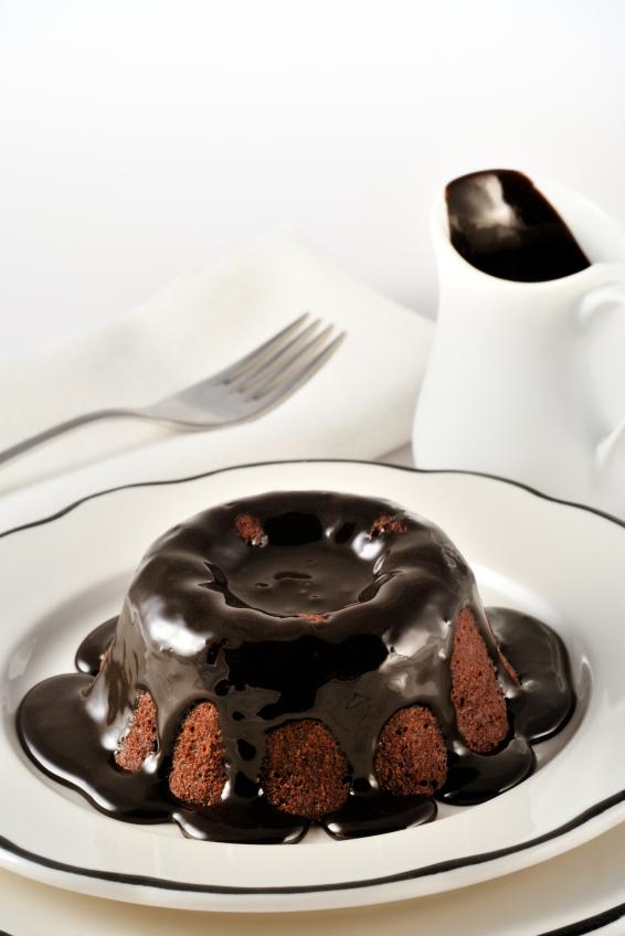 Choc Glaze & Molten Choc Cake