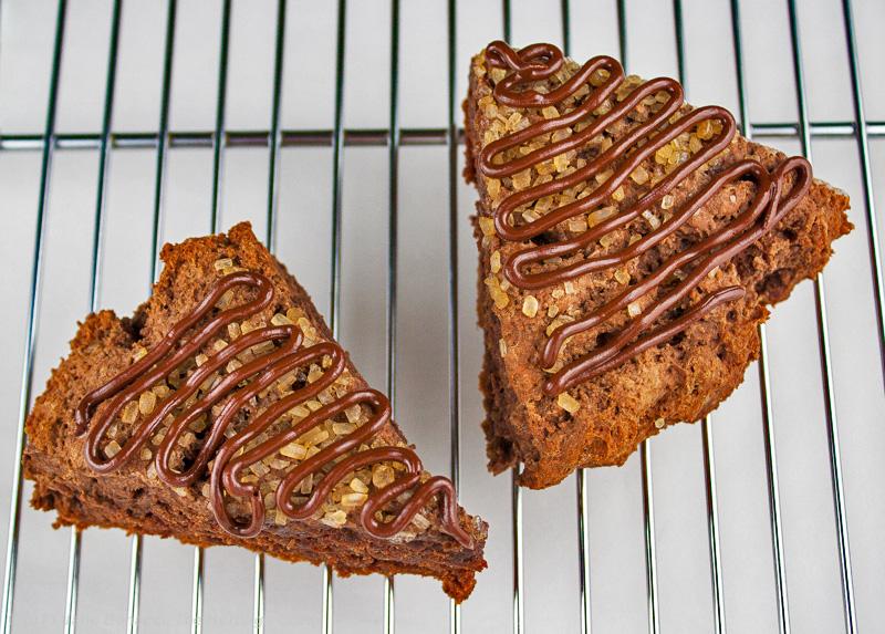 Chocolate-Glazed Scones;#IFBC; The Heritage Cook 2013