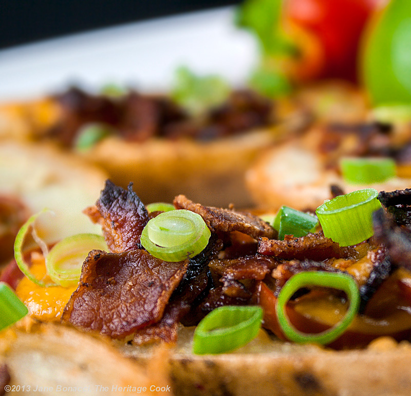 Loaded Green Chile Potato Skins; The Heritage Cook 2013