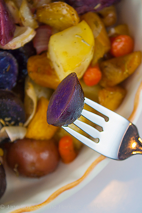 Maple-Roasted Root Vegetables; Gluten-Free; 2013 The Heritage Cook