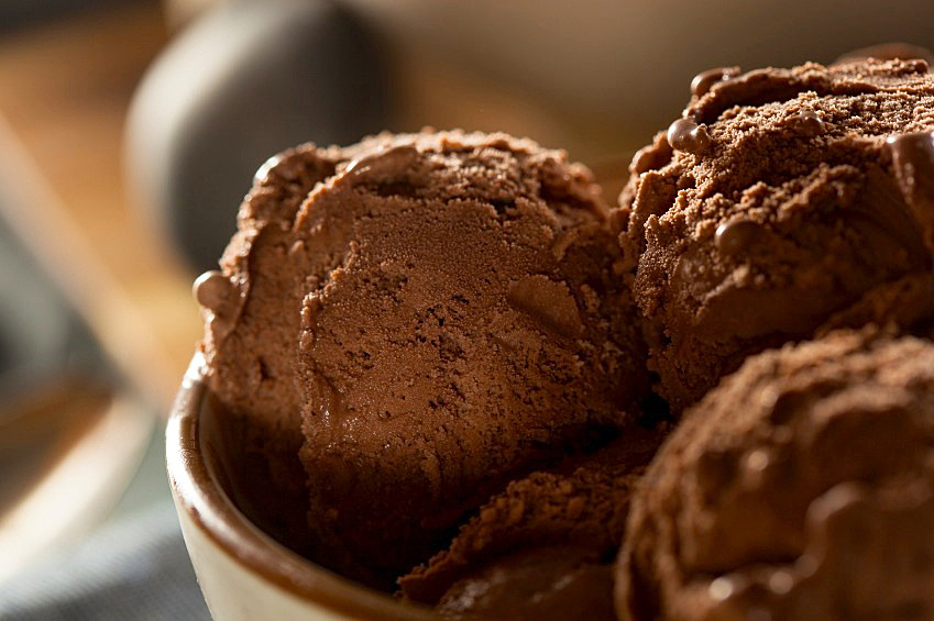 Darkest Chocolate Ice Cream; 2014 Jane Bonacci, The Heritage Cook