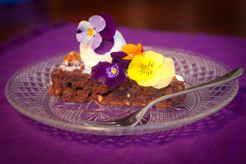 Hazelnut Chocolate Torta with Whipped Cream; Photo courtesy of Crosswalk Press