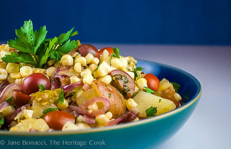 Mexican Corn Casserole; 2014 Jane Bonacci, The Heritage Cook