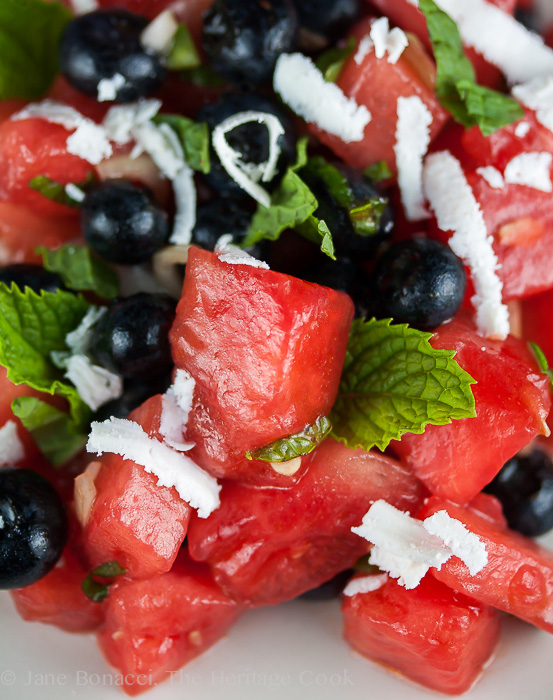 Firecracker Watermelon Salad; 2014 Jane Bonacci, The Heritage Cook