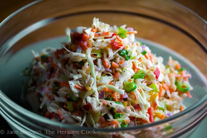 Ranch Confetti Coleslaw; 2014 Jane Bonacci, The Heritage Cook