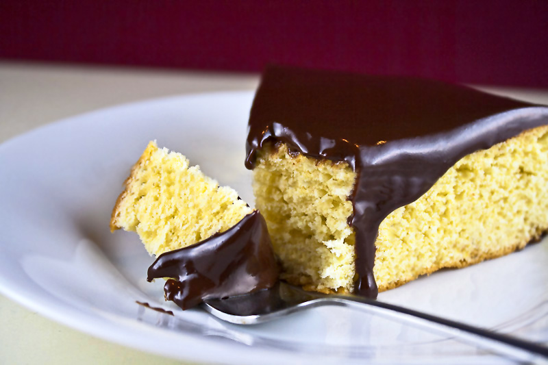 Yellow Cake & Chocolate Frosting; 2014 Jane Bonacci, The Heritage Cook