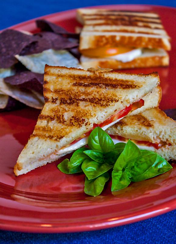 Caprese Grilled Cheese Sandwiches; 2014 Jane Bonacci, The Heritage Cook