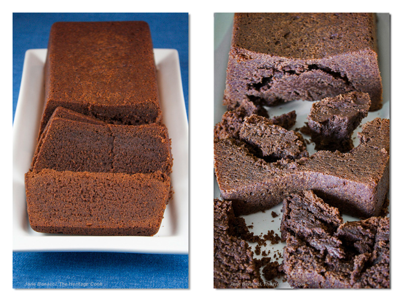 Chocolate Pound Cake with Kahlua Glaze (Gluten-Free); 2014 Jane Bonacci, The Heritage Cook