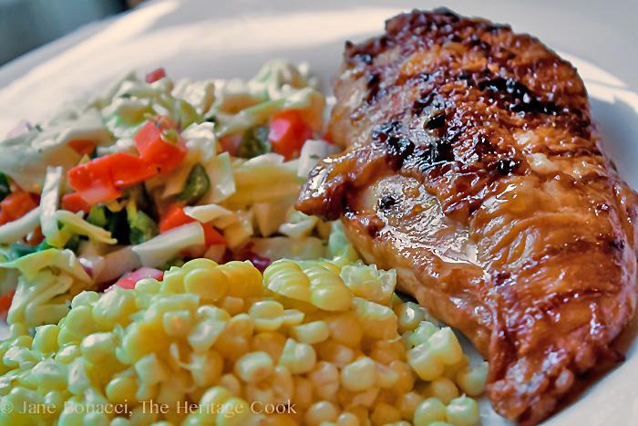 Grilled Sriracha Chicken Gluten-Free Recipe; 2014 Jane Bonacci, The Heritage Cook