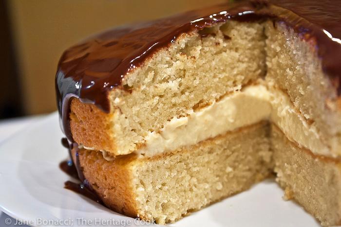Gluten-Free Boston Cream Pie; 2014 Jane Bonacci, The Heritage Cook