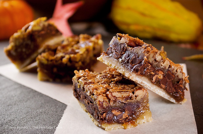 Pecan Pie Bar Cookies with Chocolate Chips, Dessert, Sweets, Thanksgiving, Christmas, Holidays, Potlucks, Recipe