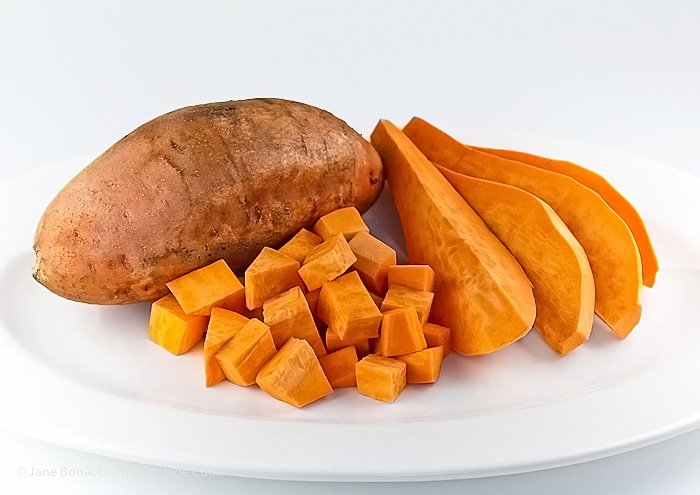 Sweet potato preparation; Whole, Sliced, and Chopped