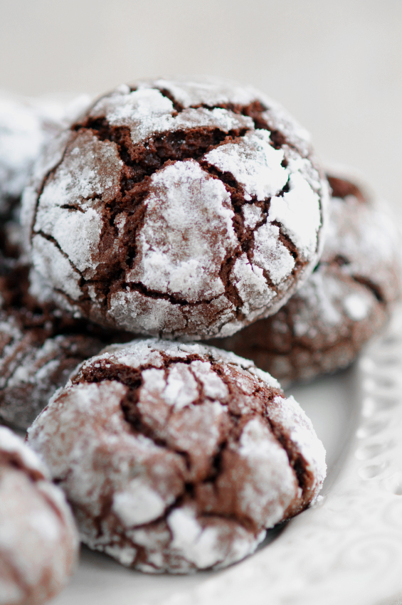 Chocolate Crinkle Cookies - Top Chocolate Monday Recipes of 2014 on The Heritage Cook