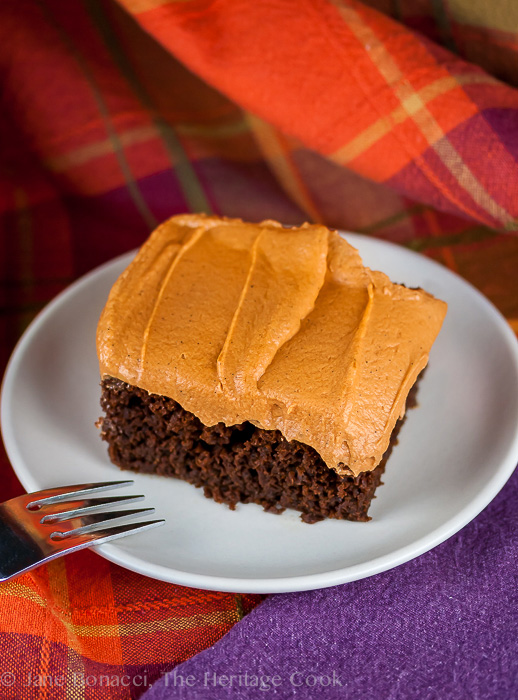 Chocolate Pumpkin Cake - Top Chocolate Monday Recipes of 2014 on The Heritage Cook