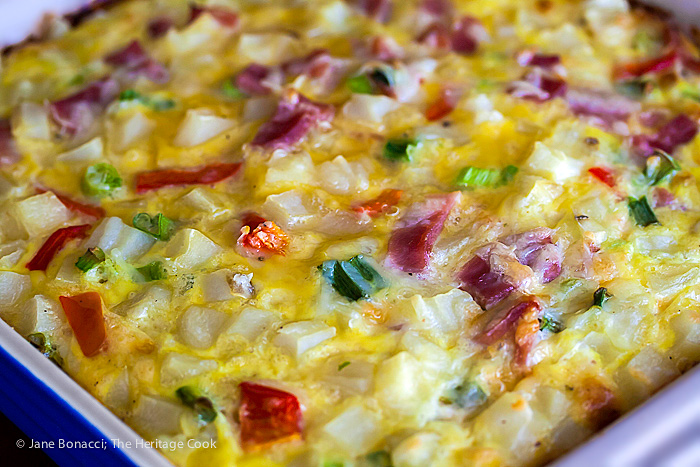 The Ham and Hash Brown Casserole hot from the oven!