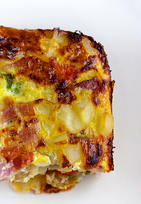 Pop this Ham and Hash Brown Casserole under the broiler to add color and crunch to the top!
