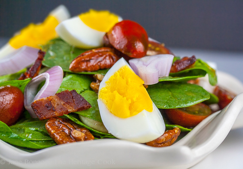 The classic Spinach Salad takes a new spin on our dinner table