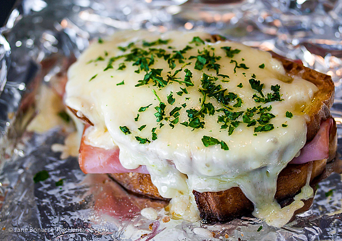The creamy sauce and extra cheese melted over the sandwiches