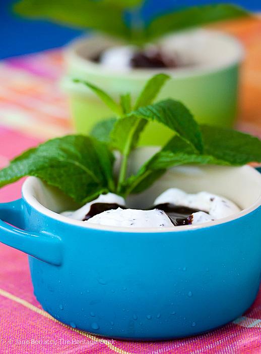 Mint Julep Ice Cream Sundaes; © 2015 Jane Bonacci, The Heritage Cook