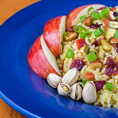 Basmati Rice with Apples, Cranberries, and Almonds
