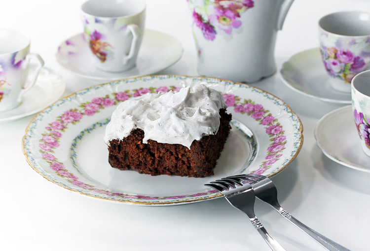 Mississippi Mud Cake; 2015 Jane Bonacci, The Heritage Cook