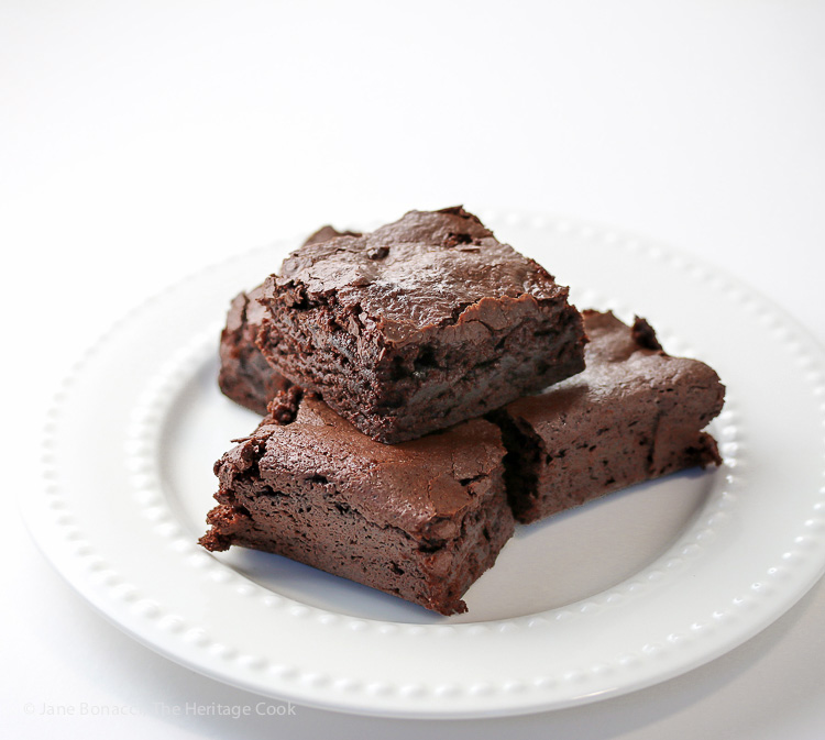 The Best Chewy Brownies in the World (Gluten-Free); 2015 Jane Bonacci, The Heritage Cook