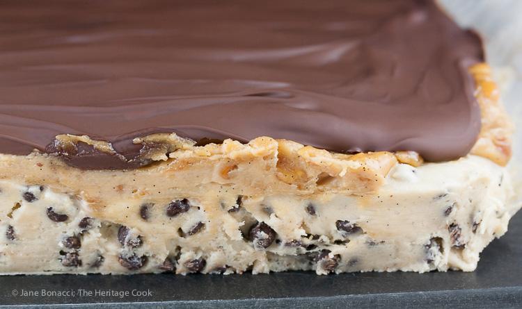 Luscious layers! Chocolate Chip Snickers Fudge; 2015 Jane Bonacci, The Heritage Cook