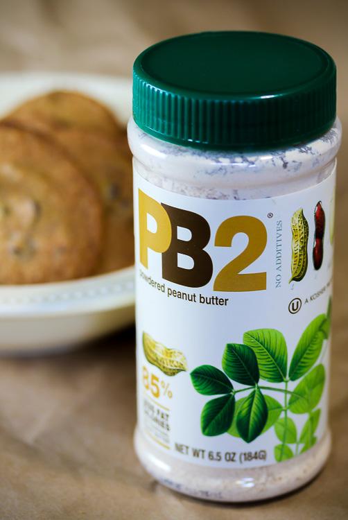 The secret ingredient, PB2 powdered peanut butter! Powdered Peanut Butter Chocolate Chip Cookies SRC; 2015 Jane Bonacci, The Heritage Cook