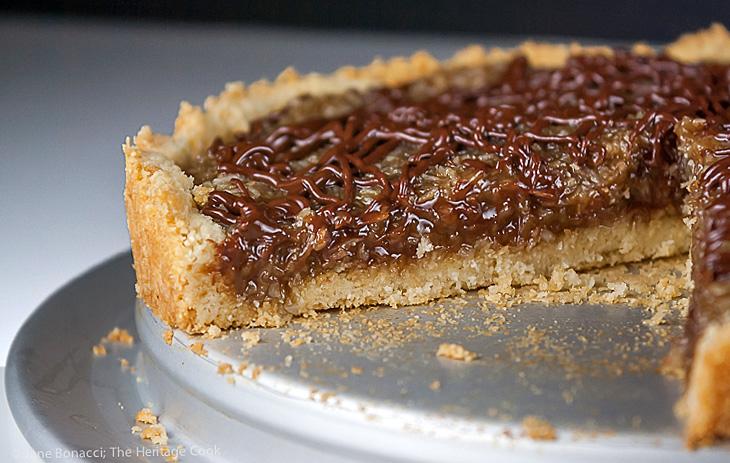 Coconut Caramel Tart that tastes like a Samoa Cookie; © 2015 Jane Bonacci, The Heritage Cook