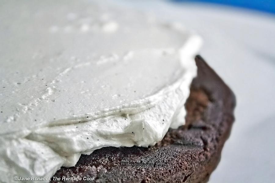 Chocolate Layer Cake with Vanilla Filling (Gluten-Free option)